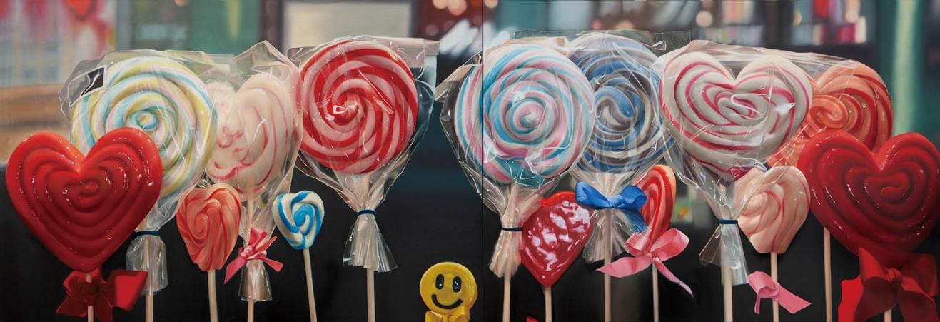 http://www.leeheum.com/files/gimgs/th-1_Sweets in show window, 324 x 112cm, Oil on canvas, 2020, [RGB]_v2.jpg